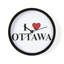 I Love Ottawa Wall Clock