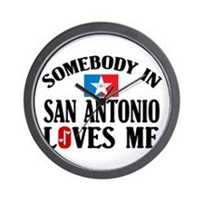 Somebody In San Antonio Wall Clock