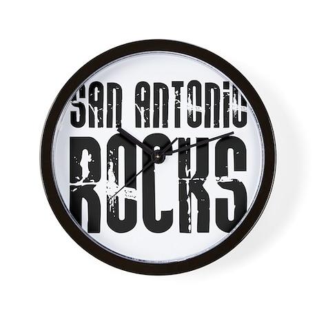 San Antonio Rocks Wall Clock