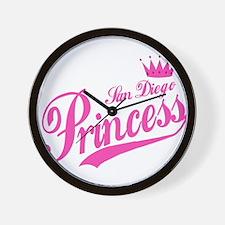 San Diego Princess Wall Clock