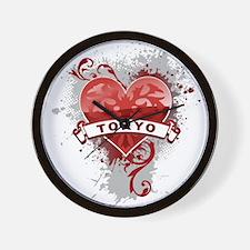 Heart Tokyo Wall Clock