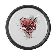 Heart Toronto Large Wall Clock