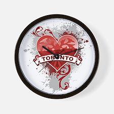 Heart Toronto Wall Clock