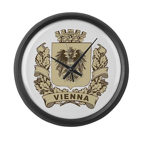 Stylized Vienna Crest Large Wall Clock
