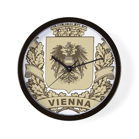 Stylized Vienna Crest Wall Clock
