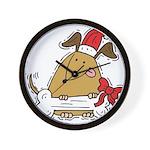 Funny Christmas Dog Wall Clock
