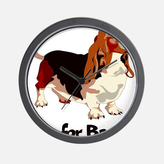 B is for Basset Wall Clock