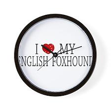 Love English Foxhound Wall Clock