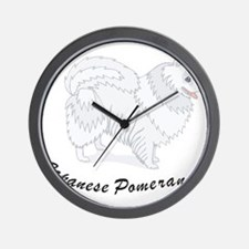Japanese Pomeranian Wall Clock