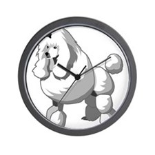 Poodle Wall Clock