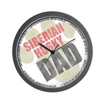 Siberian Husky Dad Wall Clock