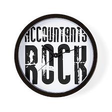 Accountants Rock Wall Clock