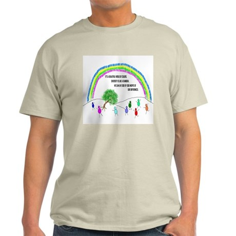 Respect Diversity Ash Grey T-Shirt