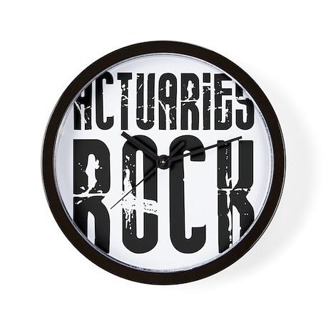 Actuaries Rock Wall Clock