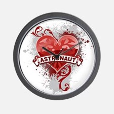 Heart Astronaut Wall Clock