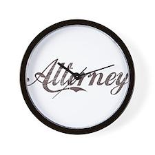 Vintage Attorney Wall Clock