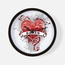 Heart Baker Wall Clock