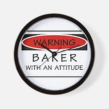 Attitude Baker Wall Clock
