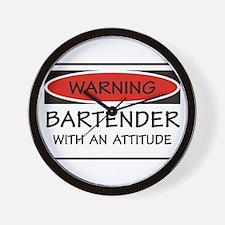 Attitude Bartender Wall Clock