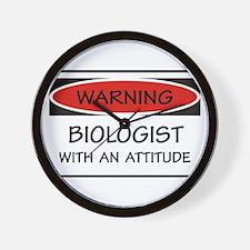 Attitude Biologist Wall Clock