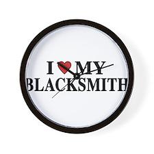 I Love My Blacksmith Wall Clock