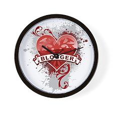 Heart Blogger Wall Clock