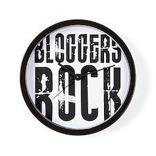 Bloggers Rock Wall Clock