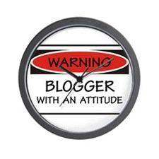 Attitude Blogger Wall Clock