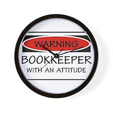Attitude Bookkeeper Wall Clock