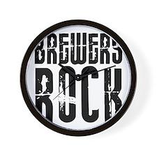 Brewers Rock Wall Clock