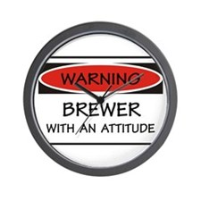 Attitude Brewer Wall Clock