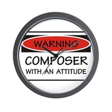Attitude Composer Wall Clock