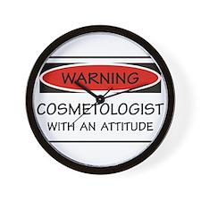 Attitude Cosmetologist Wall Clock