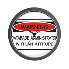 Database Administrator Wall Clock