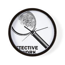 Detective At Work Wall Clock