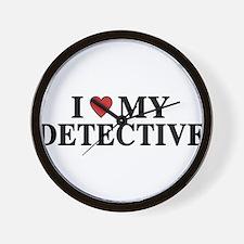 I Love My Detective Wall Clock