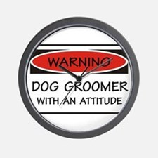 Attitude Dog Groomer Wall Clock