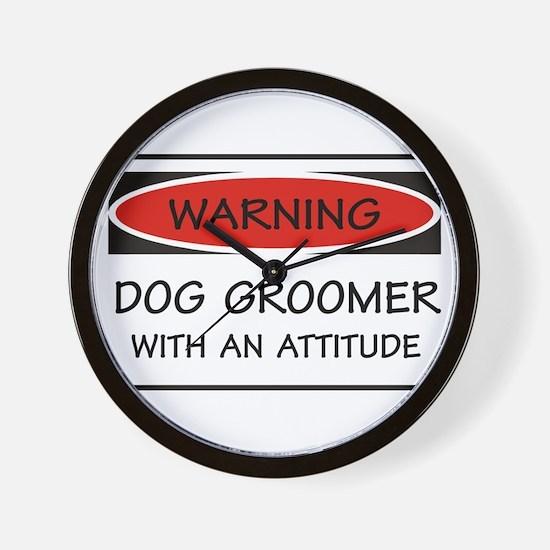 Attitude Dog Groomer Wall Clock