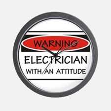 Attitude Electrician Wall Clock