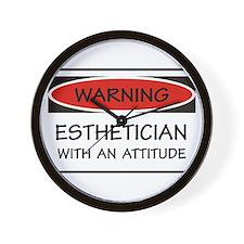 Attitude Esthetician Wall Clock