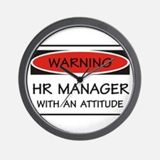 Attitude HR Manager Wall Clock