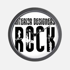 Interior Designers Rock Wall Clock