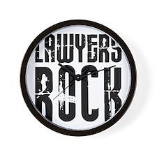 Lawyers Rock Wall Clock
