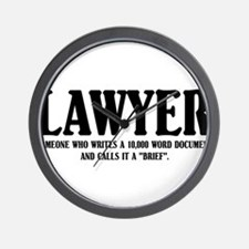 Funny Lawyer Wall Clock