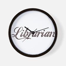 Vintage Librarian Wall Clock