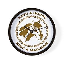 Ride A Mailman Wall Clock