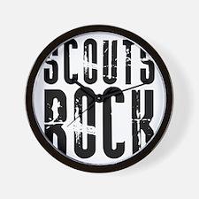 Scouts Rock Wall Clock