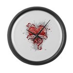 Heart Taxi Driver Large Wall Clock