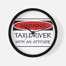Attitude Taxi Driver Wall Clock