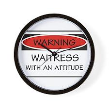 Attitude Waitress Wall Clock